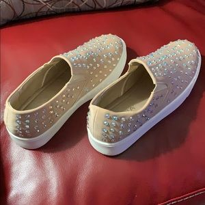 With Every Step Rhinestone Sneaker